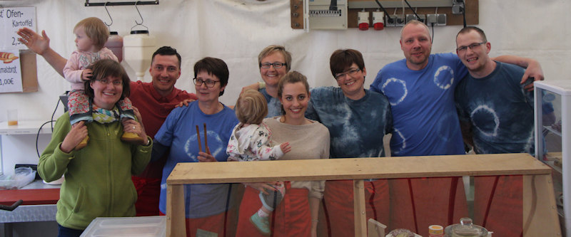 Das Brunnenfest-Team 2016 von Bauer Burkards Hof