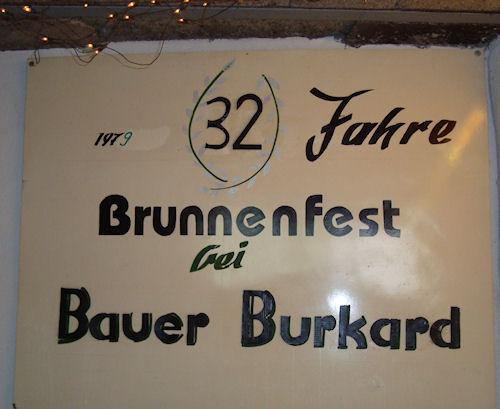 Bauer Burkard beim Brunnenfest - eine Institution!